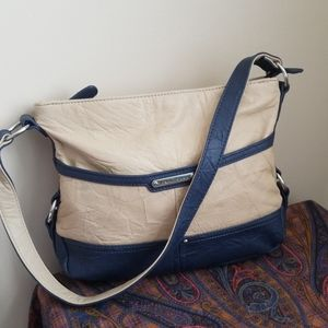 Stone mountain leather purse shoulder tote